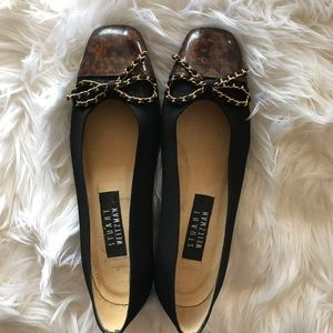 Stuart Weitzman Leather Cheetah Flats